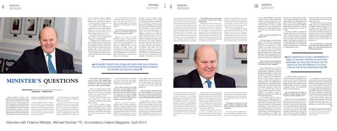Daisy Downes Portfolio | Michael Noonan Interview | Accountancy Ireland Magazine