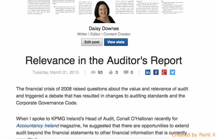 Relevance in the Auditors Report
